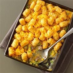 Tater Tot Casseroles Recipe -Ground beef, sausage, cheese, and, of course, Tater Tots make this classic casserole a crowd-pleaser. Cayenne pepper and hot Italian sausage give it a pleasant kick. —Ryan Jones, Chillicothe, Illinois