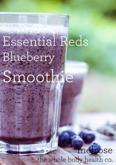 Ingredients:  ½ ripe banana fresh/frozen  ¼ Avocado  1 cup frozen blueberries  1 tbsp. Melrose Organic Flaxseed oil  2 tsp. Melrose Organic Essential Reds  1 cup coconut water  #smoothie #blueberry Flaxseed, Frozen Blueberries, Coconut Water, 1 Cup, Whole Food Recipes, Smoothies, Blueberry, Bowls, Agua De Coco