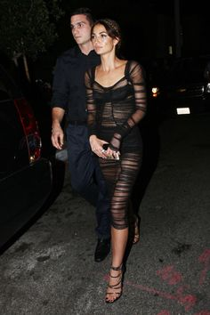 Lily Aldridge in Dolce and Gabbana at the VMAs after-party