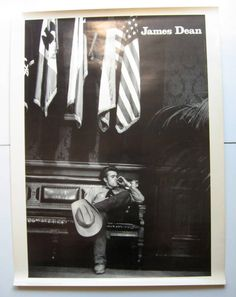 Vintage James Dean Poster - 1970's, James Dean, Black and white, Pomegranate Publications, Photo by Sanford Roth, Collector's item, Rare by VintageVoyce on Etsy