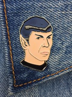 Spock Pin, Soft Enamel Pin, Jewelry, Art, Gift (PIN9)