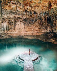 Swim in the Cenote Suytun in Yucatan, Mexico