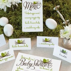 Carry a lovely bird theme and a neutral palette throughout this baby shower with these printables. About To Hatch Invitation About To Hatch Menu...