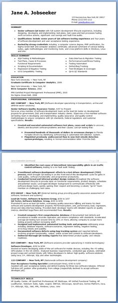 Software Tester Cover Letter Example Job Pinterest Cover - hardware test engineer sample resume