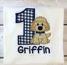 Ninja Birthday Parties, Race Car Birthday, Puppy Birthday, Baby 1st Birthday, Custom Birthday Shirts, Personalized Birthday Shirts, Custom Embroidery, Embroidery Applique, Machine Embroidery