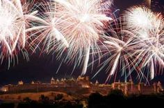 Fireworks over la Cite, Carcassonne, Bastille Day