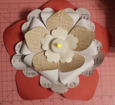 Tea party flower centerpiece. Endless possibilities. Can't wait to make poinsettias this Christmas!