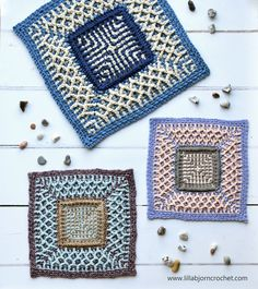 Sea Square: free crochet pattern | LillaBjörn's Crochet World