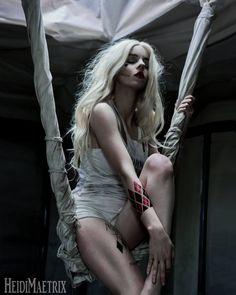 Character: Harley Quinn (Dr. Harleen Quinzel) / From: DC Comics & Warner Bros. Pictures 'Suicide Squad' / Cosplayer: Heidi Mae Herrington (aka HeidiMightyBear, aka HeidiMaetrix) (2016)