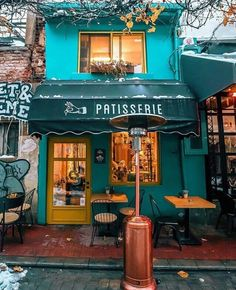 Interior Design For Living Room Cafe Interior Design, Cafe Design, Cafe Exterior, Pintura Exterior, Sidewalk Cafe, Little Paris, French Cafe, French Coffee Shop, Cozy Cafe