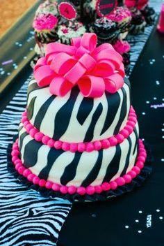 zebra print cake caroline-s-birthday-ideas