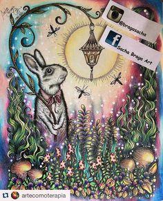 Mágico@artecomoterapia with @repostapp ・・・ Simplesmente perfeito! Amei! @Regrann from @bragasacha -  #artecomoterapia #coelhinho #jardineira #colorist #coloring #colorindo #coloringbook #coloringbooksforadults #lapisdecor #daydreams #dagdrömmarhannakarlzon #johannabasford #secretgarden #enchantedforest #lostocean #faberpolychromos #fabercastell #maped #pintar #pintando #bunny #livrodecolorirparaadultos #Dagdrömmar #colorido #hannakarlzon #colorir #instacoloring #Regrann