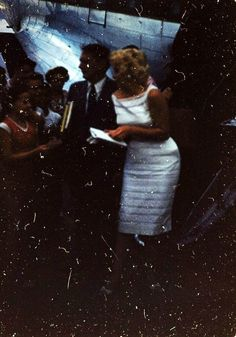 Marilyn arrives in Bement, 1955.