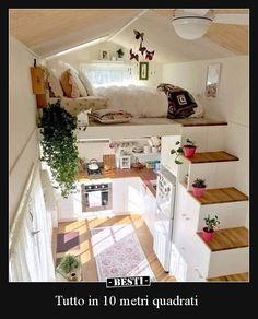 tiny house decor, tiny house design, tiny house interior, modern living room, living room decor We like spacious and airy interiors but the truth is a large house poses high demands in terms of costs and general maintenance Tiny Loft, Tiny Tiny, Tiny House With Loft, Small House Diy, Tiny House Closet, Tiny House Bedroom, Best Tiny House, Design Room, Small Room Design