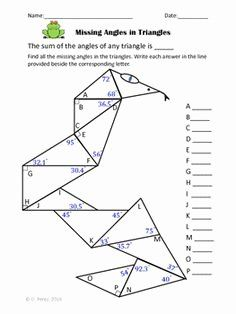 Finding Missing Angles Worksheet New Triangles Identifying And