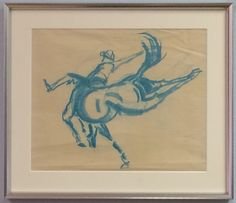 Original Pastel Drawing on Paper, Attributed Edward Borein (1872-1945). Available for purchase at http://treasuredestates.com/showroom/product/149-pastel-drawing-on-paper-attributed-edward-borein