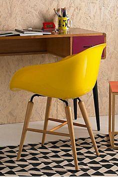 Yellow Armrest Chair