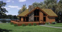 Escape with Wraparound Deck - 12716MA | 1st Floor Master Suite, CAD Available, Mountain, Narrow Lot, PDF, Vacation, Wrap Around Porch | Architectural Designs