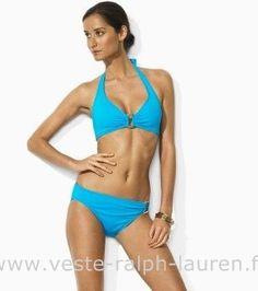 8e71ed2eb2a2 boutique maillot de bain Ralph Lauren femme mode03 blue Maillot De Bain  Ralph Lauren Femme Halter