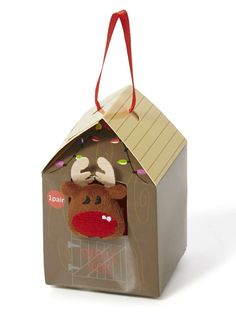REINDEER COSY SOCKS IN A BOX - Google Search