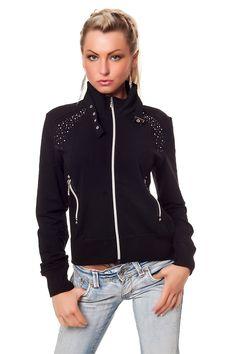 Naisten vaatteet - Takit - Musta puuvillatakki - ClothStation