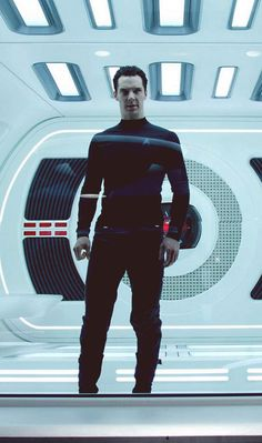 Benedict Cumberbatch with muscles in a tight shirt and he's also in Star Trek.