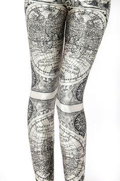 Ancient Maps Leggings - LIMITED   Black Milk Clothing ($50-100) - Svpply