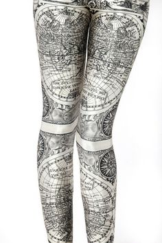 Ancient Maps Leggings - LIMITED | Black Milk Clothing ($50-100) - Svpply