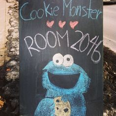 #Cookie #Monster is lovin' Room #2046 because of our impressive cookie lineup . So long #Sesame St., Hello #Yonge St., #Toronto!