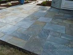One of our specialties is Pattern Cut Pennsylvania Bluestone Patios ...