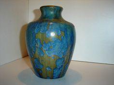 French Pierrefonds Crystalline Pottery Vase Circa by PIERREFONDS, €145.00