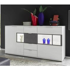 Wohnzimmer Sideboard in Weiß Grau Glas LED Beleuchtung Jetzt bestellen unter: https://moebel.ladendirekt.de/wohnzimmer/schraenke/sideboards/?uid=7fe619f6-2727-5a2f-8d4c-678b14e3845f&utm_source=pinterest&utm_medium=pin&utm_campaign=boards #sidebord #schraenke #wohnzimmerschrank #wohnzimmerkommode #esszimmerkommode #große #küchenkommode #schrank #sideboard #wohnzimmer #sideboards #kommode #esszimmer