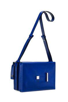 Bag, Cobalt blue, Blue, Electric blue, Handbag, Shoulder bag, Fashion accessory, Satchel, Messenger bag, Tote bag, Prada Handbags, Fashion Handbags, Leather Handbags, Stuart Weitzman, Trendy Purses, Fall Bags, Minimalist Bag, Popular Handbags, Designer Shoulder Bags