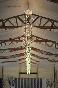 Decorations for barn reception