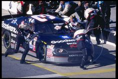 68. Nov. 12, 1995  -   Atlanta Motor Speedway:   NAPA 500  -    Dale Earnhardt is in for the first pit stop at the Nascar NAPA 500 at the Atlanta Motor Speedway. It would be the site of his fifth victory of the season.