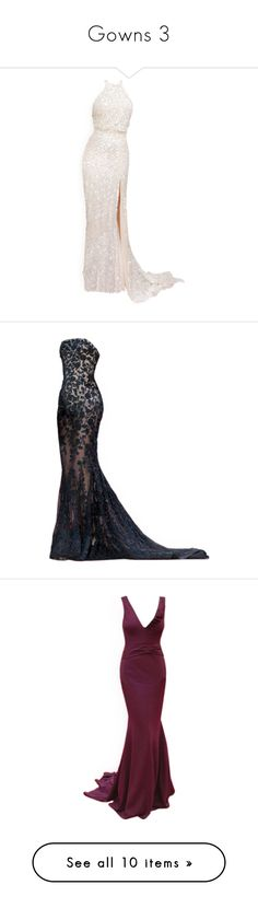 """""""Gowns 3"""" by joanna-tabakou ❤ liked on Polyvore featuring dresses, gowns, long dresses, vestidos, satinee, elie saab dresses, elie saab, elie saab evening dresses, elie saab evening gowns and couture evening gowns"""