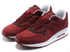watch 13a15 81e6d Nike Air Max 1 Mensen Alle Rood Wit Nike Running Shoes Women, Women Nike,