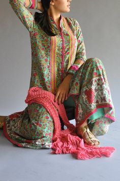 Love Pakistani salwar kameez - the prints and cuts are amazing