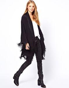 Image 1 ofWinter Kate Oversized Silk Crepe Bed Jacket with Fringing