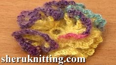 Crochet 3D Flower With Ruche Petals Tutorial 88  http://sheruknitting.com/videos-about-knitting/crochet-flower-lessons/item/763-crochet-small-ruche-petal-flower-tutorial-88.html In this tutorial we will show you how to crochet cute flower with ruche petals.