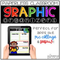 This resource is completely paperless and digital! All activities require NO prep - no printing and no copying! This no prep digital resource is the perfect way to get students engaged in their learning while using digital devices. There are 19 digital graphic organizers to choose from in this set.