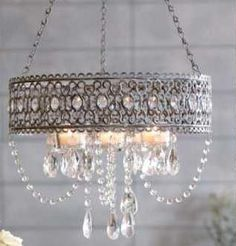 Shabby Chic French chandelier-- How fab is this?