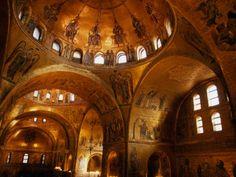 The golden interior of San Marco