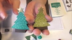 This is a simple video tutorial of how to make paper trees that hold one Hershey kiss or small candy using Stampin' Up product. To read my blog with pictures...
