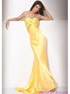 Glittering One Shoulder Prom Gown
