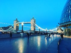 Blue Hour at Tower Bridge, London #travel #london
