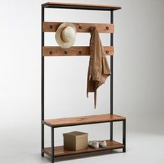 Hiba Entrance Furniture La Redoute Interieurs - Bench and Entry Chest - bench Metal Furniture, Industrial Furniture, Diy Furniture, Furniture Design, Furniture Stores, Industrial Coat Rack, Hall Stand, Coat Stands, Contemporary Bedroom