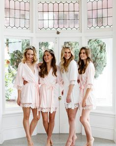 The Josie robes from @lerose_online would look gorgeous on you + bridesmaids ❤️ Get free shipping on orders over $200 with code OVER200 | LINK IN BIO. #bridesmaids #bridal #wedidng #gettingreadyrobes #weddingchicks #WClerose_online #ad
