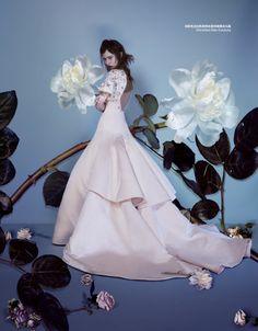 Marine Deleeuw & Lina Zhang by John-Paul Pietrus for Harpers Bazaar China