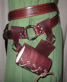 Double Wrap Belt with Removable Sword Frog, Medieval, Renaissance, SCA, LARP. $170.00, via Etsy.
